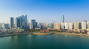 Qingdao coast landscape China Royalty Free Stock Images