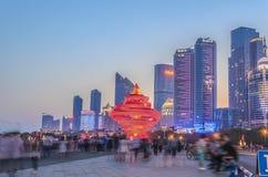 Qingdao 54 fyrkant Royaltyfria Foton