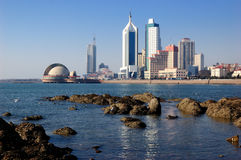 Qingdao miasto Obrazy Royalty Free
