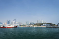 Qingdao Olympic Sailing Center. City, scenery Royalty Free Stock Images