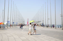 Qingdao Olympic Sailing Center Pier stock photo
