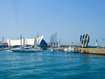 Qingdao Olympic Sailing Center wharf Royalty Free Stock Images