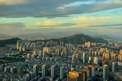 Qingdao panorama royaltyfri foto
