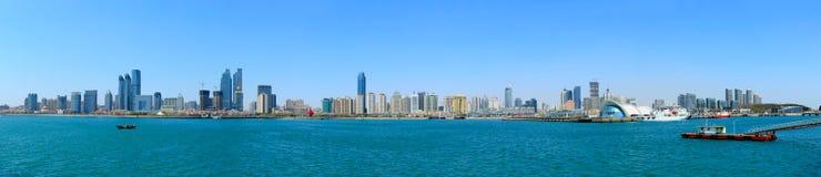 Qingdao panorama. Panorama of a Chinese city, Qingdao royalty free stock photos