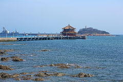 The Qingdao pier in China Royalty Free Stock Images
