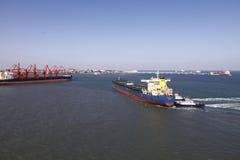 Qingdao port, China 20-ton iron ore terminal Royalty Free Stock Photos