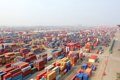 Qingdao Port Container Terminal Royalty Free Stock Photography