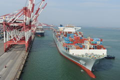 Qingdao Port Container Terminal Royalty Free Stock Images