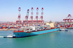 Qingdao Port Container Terminal Stock Image