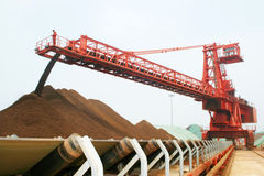Qingdao port iron ore terminal Royalty Free Stock Photos