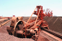 Qingdao port iron ore terminal Stock Photography