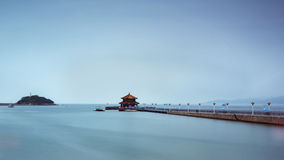 Qingdao scenery in China. Qingdao is one of China's eastern coastal important economic and cultural center, a leading city in the Shandong Peninsula Blue royalty free stock photos