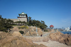 Qingdao scenery. Qingdao(TSINGTAO) is a famous tourist and sea port city in Shandong province on the yellow sea coast, People's Republic of China royalty free stock images