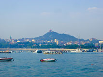 Qingdao sea sightseeing boats Stock Photos