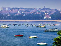 Qingdao sea sightseeing boats Stock Image