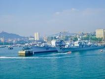 Qingdao skeppsdocka nära sjö- museum Royaltyfria Foton