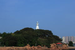 Qingdao small lighthouse Stock Image
