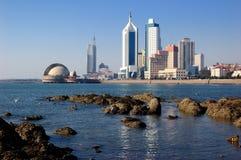 Qingdao stad royaltyfria bilder
