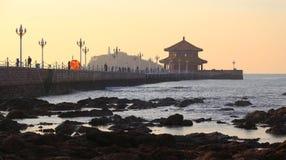 Qingdao stad arkivfoto