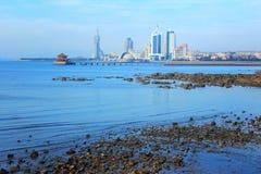 Qingdao stad Arkivbild