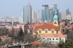 Qingdao-Stadt Stockbild