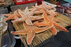 Qingdao Trip. Street food in Qingdao, China stock photography