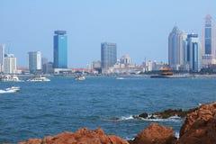 Qingdao-Ufergegend Stockbild