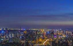 Qingdaonacht royalty-vrije stock foto