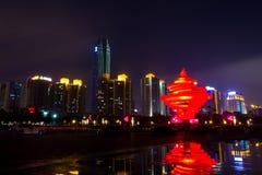 Qingdaos Nacht - 2 Lizenzfreies Stockbild