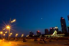 Qingdaos Nacht - 3 Lizenzfreies Stockfoto