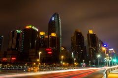 Qingdaos Nacht - 4 Lizenzfreie Stockfotografie