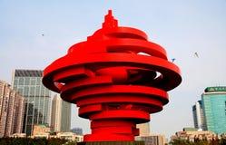 Qingdaostad van shandong, China royalty-vrije stock foto