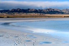 Qinghai Caka Salt Lake sceneria Obrazy Royalty Free