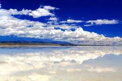 Qinghai Chaka Salt See Landschaft Stockbilder