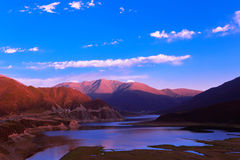 Qinghai Datong Heiquan reservoir scenery. Eastphoto, tukuchina,  Qinghai Datong Heiquan reservoir scenery Royalty Free Stock Photo