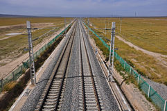 qinghai järnväg tibet Royaltyfria Foton