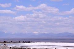 Qinghai Jeziorna sceneria wzdłuż sposobu obraz royalty free