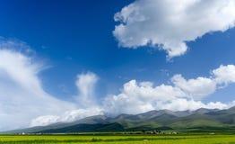 Qinghai Jeziorny Sceniczny teren Zdjęcie Royalty Free