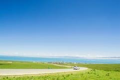 Qinghai jezioro, krajobraz od Ning Chiny XI. Zdjęcie Stock