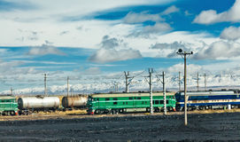 qinghai järnväg tibet Royaltyfri Fotografi