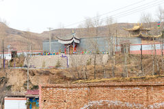 QINGHAI KINA - April 03 2015: 14th Dalai Lama Birthplace i Ta Royaltyfri Bild