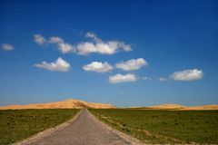 Qinghai Lake Island highway Stock Photography