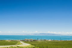 Qinghai Lake landscape from Xi Ning of China Royalty Free Stock Photo