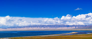 Qinghai lake. Is the largest salt water lake of china Stock Photos
