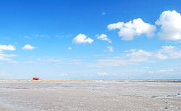Qinghai Lake. Located in the northeast of the Qinghai Plateau, Qinghai Lake is China's largest inland lake and the largest salt-water lake. It is one of the top stock image