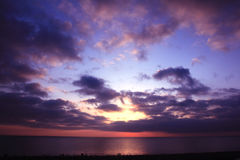 Qinghai lake and sky in sunrise Stock Photos