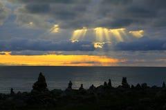 Qinghai Lake Sunrise Royalty Free Stock Images