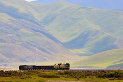 Qinghai-Tibet Gleis Stockfotos