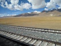 Qinghai-Tibet järnväg Fotografering för Bildbyråer