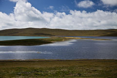 Qinghai - Tibet Plateau. Qinghai Tibet Plateau nature with many lakes Royalty Free Stock Images